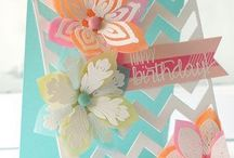Card Making, Stampin' & Tags / Stampin' up, card ideas, tag ideas, Copics coloring examples / by Martha Galvez