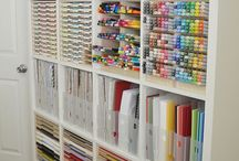 Ideal Spaces & Organization / Scrapbook spaces and scrapbook organization!