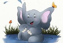 Illustrations - elephants
