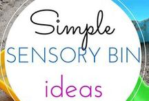 Sensory play / Simple sensory activities for kids. Water play, Sand Play, and more. Sensory Play for all the senses! Homemade play dough, sensory play ideas, sensory bottle, discovery bottle, squishy bags,  sensory bins, sensory tables, sensory bags,