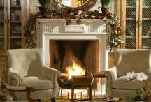 Fireplaces / Most old houses have fireplaces, & i hope one day to have a house with a fireplace... I'm collecting ideas for decorating, painting trim/mantel, etc.