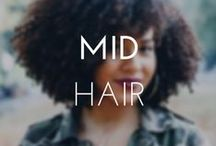 MID-LENGTH HAIRSTYLES / Have shoulder length hair? Here's a board full of style inspirations. #CurlyGirlsRock
