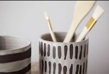 ceramics / stone ware, porcelain, concrete and plaster - beautiful objects I want in my home