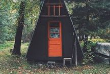 the A-frame cabin, a love story / Simple and chic - the A frame house!