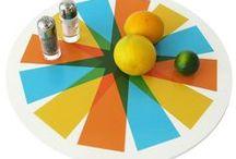 three colour prints