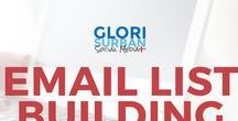 email list building tips / learn how to build your email list through blogging and social media, learn what freebies to create and how