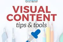 visual content tips and tools for bloggers / where to find free stock photos for your blog, how to design stunning blog post images, how to optimize your blog images for SEO, free tools and resources for graphic design