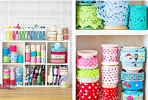 Craft Room Ideas / Inspiration for the prettiest and most functional craft room.