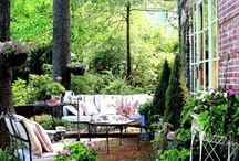 Outdoor Spaces / Everyone should have an outdoor space, even if it is just two chairs and a table, or a bench.  / by Betsy Ellis