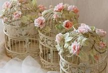 Shabby Bird Houses and Cages
