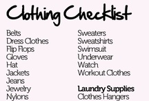 College Packlist and Tips / by Kari Clevinger