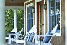 Lake House - Porches and Decks / screened-in porch and deck / by Kari Clevinger