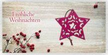 Weihnachtskarten mit Filzanhänger / Weihnachtskarten mit Filzanhänger in vielen Motiven und Farben für Ihre individuellen Weihnachtsgrüße an Geschäftspartner, Kunden und Mitarbeiter. Gerne individuell anpassbar mit Ihrem Logo und Grußtext.