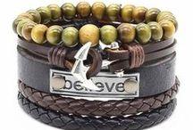 bracelet en cuir homme - style décontracté