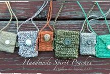 My Spirit Pouches / I take great pleasure in creating Spirit Pouches, as the practice is a mediative ritual for me, one that offers me stillness and focus. My hope is that my intentions during its making mesh and meld with yours as you use and wear it.