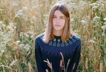Donna Wilson AW 2014 Knitwear / 'Jumpers and Ice Cream' is Donna Wilson's first collection of womens knitwear, a family of exquisitely soft woolly jumpers inspired by rainy Sundays, mittened bike rides to the circus, and other instances of unlikely pairings yielding magical results.