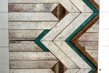 Reclaimed wood projects / inspiration for our murphy bed cabinets