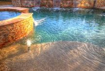2015's Hottest Swimming Pool Trends / See the hottest swimming pool and hot tub trends of 2015 come to life.  / by SwimmingPool.com