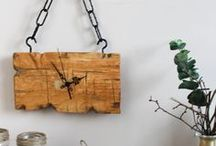 CLOCKS (Wood ▫️ Handmade ▫️ Rustic ▫️ Home ▫️ Design ▫️ Wooden) / Amazing handmade clocks made of wood.