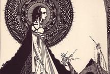 Harry Clarke / As series of illustrations by Irish illustrator Harry Clarke to accompany Edgar Allan Poe  tales of terror!