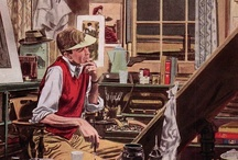Robert Fawcett / Robert Fawcett (1903–1967) trained as a fine artist but achieved fame as an illustrator of books and magazines and brought a superb sense of composition to his advertisement work.