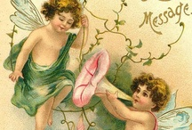Vintage Art-Fantacy / Vintage art of fairies, angels. and cupids / by Alice Hudson Roberts