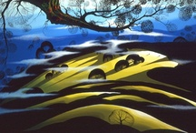 Eyvind Earle / Eyvind Earle was an American artist, author and illustrator, noted for his contribution to the background illustration and styling of Disney animated films in the 1950s.