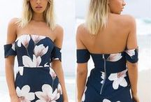 Casual Dress With Floral Details / New Women Clubwear Summer Beach Floral Playsuit Bodycon Jumpsuit&Romper Trousers | Sexy Girls Summer Gear With Fashion & Style |  Great wearing effect, make you more chanrming |   Suitable for casual, beach, dance, performance, etc