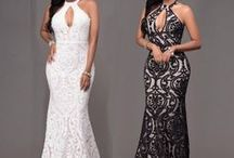 Formal Long Dress, for Party, Wedding or Night / Women Long Formal Prom Dress Cocktail Party Ball Gown Evening Bridesmaid Dresses | The floral pattern is very exquisite and classic |  Hollow-out chest position, backless and slim fitted |  Best choice to let you come with overwhelming charm