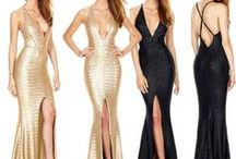 Elegant Dress with Sequins / Sequin Long Formal Dresses Evening Gown Prom Ball Gala Split Maxi Cocktail Dress | Execllent design adds you charm and attraction |  Suitable for evening prom ,wedding Party, engagement, etc