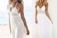 Long Summer Dress with Open Back / Women Crochet Backless Bohemian Halterneck Evening Party Maxi Long Beach Dresses