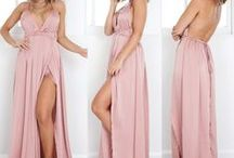 Long Dress with Open Back / New Women Evening Dress Convertible Backless Bridesmaid Formal Maxi Long Dresses | Long maxi dress, cross bandage, with split |  Suitable for party, wedding, prom, beach, etc