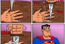 Funny / Super-Heros
