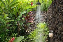JAMAICA HAUS BATH / We really inna de long bathing ting. Plus beach. Rich life well gree wid we.