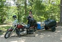 Motorcycle Camping / Motorcycle Camping requires compact packing. These ideas can help make your packing more portable.
