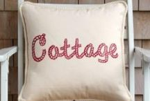 Red and White Cottage / Cottage charm in red and white! / by Patty Dahl