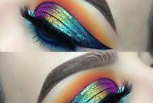 Rainbow makeup and blending / Anything from contouring to blending