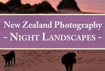 Night Landscapes   New Zealand Photography / Searching for inspiring night landscapes?  This board contains long exposure photographs from New Zealand (NZ) taken by twilight, moonlight, starlight, torchlight and street light. Enjoy this collection of New Zealand photography!