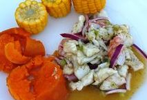 Evys Rezepte / Rezepte - Recetas - Ceviche - Arroz con pollo - Korianderreis mit Hähnchen - Karottenkuchen - Bizcocho de zanahoria - Chili con carne - Picante de pescado - Pikantes Fischgericht - Chilipaste - Pasta de ají molido