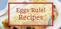 Eggs Rule! Recipes / The one and only; the egg! So versatile, nutritious, delicious and affordable! This board has some of our favorite egg recipes. From breakfast to desserts, the egg rules!