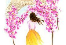 Art ∞ Illustrations, Paintings, Peintures / Illustrations, peintures, oeuvres d'art, Art.