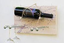 Wine Racks Natural Wood Handmade / Wine Racks, Handmade, DIY, wino, Shou Sugi Ban