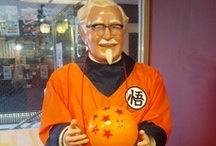 KFC Colonel Sanders Dressed in Dragon Ball Z