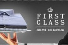 "First Class Collection / A selection of shirts distinguished by the quality of  their fabrics and design.  Discover the benefits of our ""Easy Care"" and ""Wrinkle Free"" fabrics and enjoy a collection designed exclusively for those, who appreciate quality."