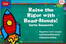 """Read Alouds Workshop / If you attended the """"Raise the Rigor with Read Alouds"""" workshop for SDE, this board is for you!"""