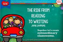 """Reading to Writing Workshop / If you attended my """"The Road from Reading to Writing"""" workshop for SDE, then this board is for you!"""