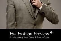 Fall Fashion Preview / A collection of Suits, Coats and Trench Coats