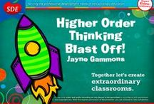 Higher Order Thinking Workshop / If you attended my Higher Order Thinking workshop, this board is for you!