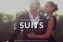 Summer Party Suits Collection / Dive into Summer with Style. Suit up for your next Summer party and beat the heat with our New Suits Collection.