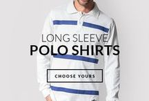 Long Sleeve Polo Shirts / Be ready for Fall! A Polo Shirt is a year-round men wardrobe essential